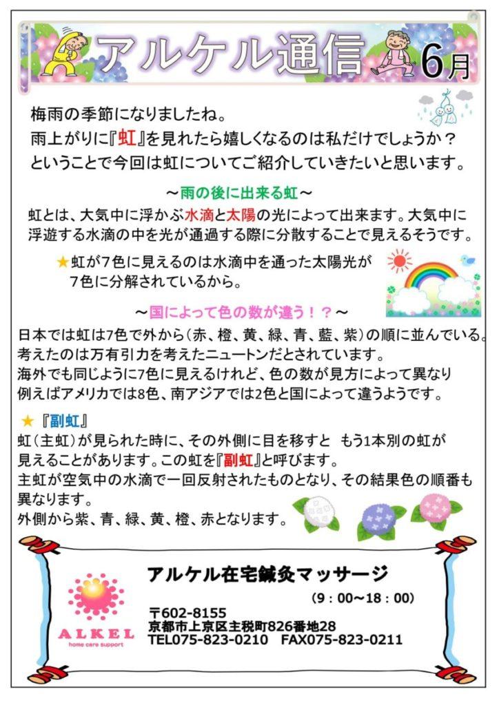 アルケル通信6月・7月・8月